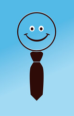 business smiley with a tie