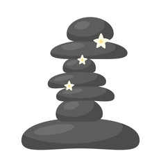 spa stones vector symbol icon design.
