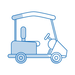 blue shading silhouette cartoon golf cart vehicle vector illustration