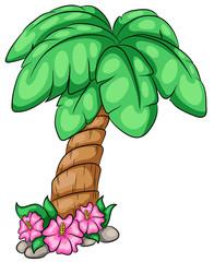 Niedliche Palme Vektor Illustration