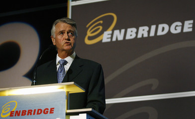 Daniel, president and CEO of Enbridge, addresses shareholders at AGM in Calgary