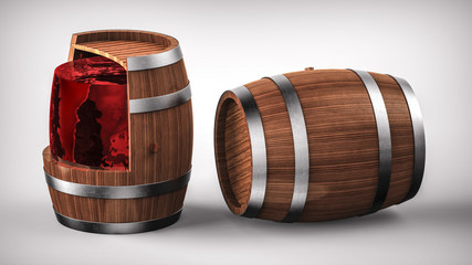 Cross section of the wine barrel.