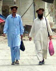 This undated photograph shows Allah Noor and Amir Nawab Khan who were shot dead by gunmen in Wana.