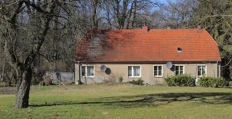 Former turkey barn on palace grounds in Griebenow, Mecklenburg-Vorpommern, Germany