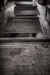 Old School Desks in a Row