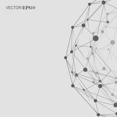 Design Technology Network backgound. Connection concept
