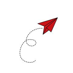 Paper plane flying icon vector illustration graphic design