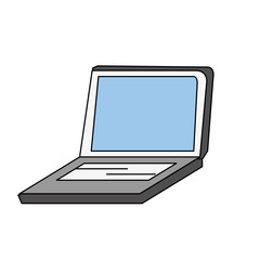 Laptop pc technology icon vector illustration graphic design