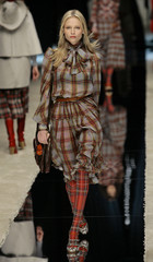 A model wears a creation from D&G Fall/Winter 2008/09 women's collection during Milan Fashion Week.