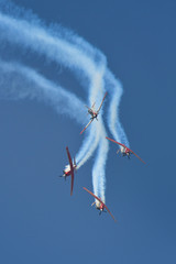 Synchronized flight of 4 planes in the team during Israeli 69st independent day