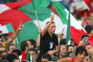 Italian fans gathered in Circus Maximus to celebrate their soccer team's World Cup 2006 victory in Germany