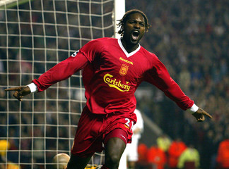 LIVERPOOL'S DIAO CELEBRATES HIS GOAL AGAINST SPARTAK MOSCOW DURINGTHEIR CHAMPIONS LEAGUE GROUP B MATCH ...