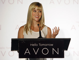 Actress Reese Witherspoon speaks after it was announced that she will serve as Avon Products, Inc. first ever Global Ambassador  during a news conference in Beverly Hills