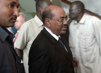 Sudan's President al-Bashir departs after meeting with the United Nations Security Council in Khartoum