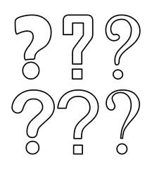 question mark silhouette vector symbol icon design.