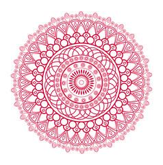 Vector illustration of a red mandala, mandala vettoriale