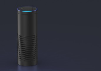 Smart speaker with voice control - isolated