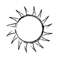 sun icon over white background. vector illustration