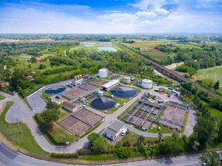 Spoed Foto op Canvas Industrial geb. Aerial view of industrial area