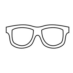 glasses accessory icon over white background. vector illustration
