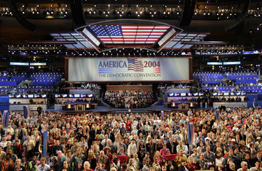 Delegates pose for official photo at Democratic National Convention.
