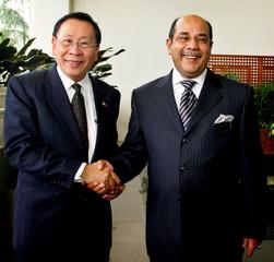 Philippines Foreign Affairs Secretary Romulo meets Malaysian Foreign Minister Albar in Putrajaya.