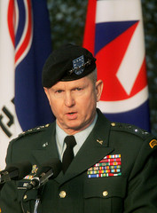 Incoming commander of US Forces Korea Bell speaks during change-of-command ceremony in Seoul