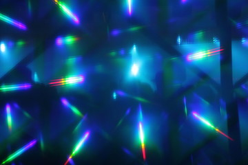 abstract lights nightclub dance party background with copy space