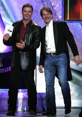 BILL ENGVALL AND JEFF FOXWORTHY AT THE ACADEMY OF COUNTRY MUSIC AWARDS IN LAS VEGAS.
