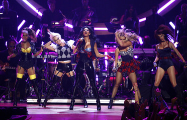 The Pussycat Dolls perform during the 2008 Fashion Rocks concert in New York