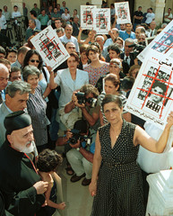 RELATIVES OF THE LEBANESE JAILED IN SYRIA HELD A PROTEST AS THEY MEETS WITH MARONITE cHRISTIAN ...
