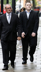 Actor Waylett arrives at Westminster Magistrates Court in London