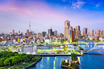 Tokyo, Japan Sumida River Skyline