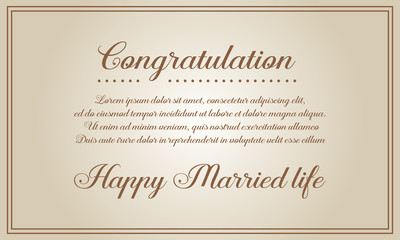 Invitation card for wedding style collection