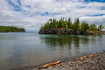 lake superior, ellingson island, split rock lighthouse