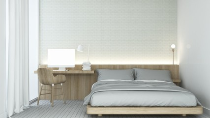Bedroom space in condominium - 3D Rendering