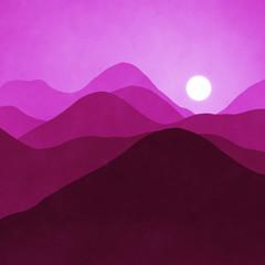 pink landscape background