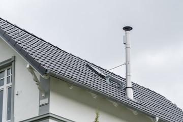 Schornstein auf einem Dach