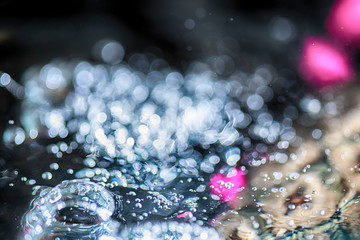 Splash water macro photography