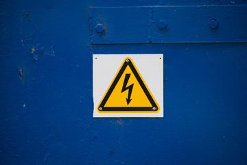 Hight voltage sign