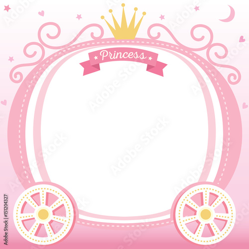 Illustration vector of cute princess cart decorated with crown on ...