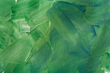 Oil paint texture, abstract green background