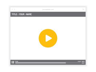 Vector video player flat website templates.