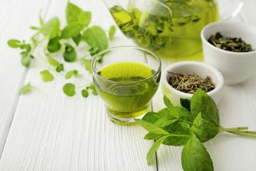 healthy herbal green tea