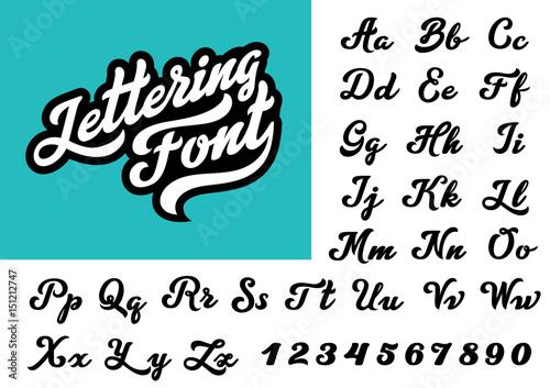 Quot calligraphic vintage handwritten vector font for