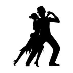 Argentina tango silhouette