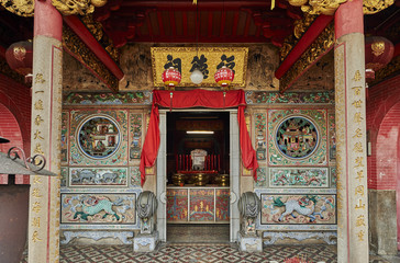 Thai Pak Koong Chinese Buddhist temple, George Town, Penang, Malaysia, Southeast Asia, Asia