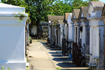 Colonial French cemetery in New Orleans.