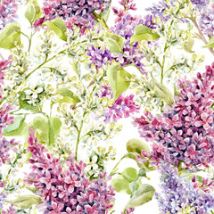 Watercolor lilac pattern