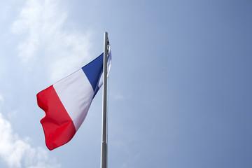 National flag of France on a flagpole